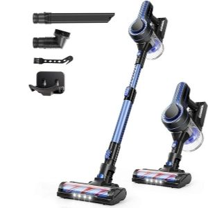 An image of APOSEN Cordless Vacuum Cleaner, an example of one of the best cordless vacuum for hardwood floors