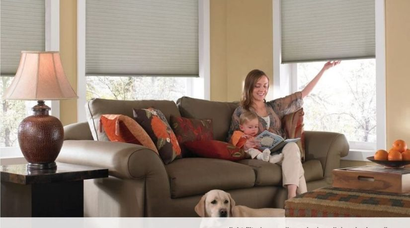 """the image of Windowsandgarden Custom Cordless Single Cell Shades shows the perfect reason why individual always sought for the answer to """"how to restring cordless cellular shades"""" due to the convenience that they give while filtering light inside a house"""
