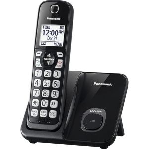 Here is an illustration of the KX-TGD510B Panasonic Expandable Cordless Phone System, which graces you with an outstanding battery runtime, making the unit one of the best cordless phone for visually impaired