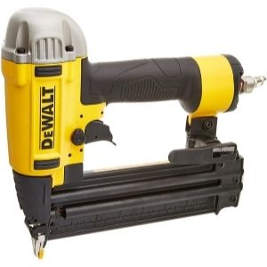 The DEWALT 20V MAX Cordless Brad Nailer is made of a small nose for accuracy as illustrated in the image, making it one of the best cordless pin nailers in the market