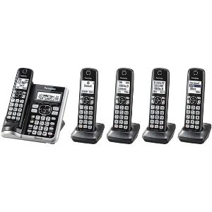 Above is the Panasonic KX-TGF575S Link2Cell BluetoothCordless Phone that can be connected to a smartphone, a factor that makes it one of the best cordless phone for visually impaired