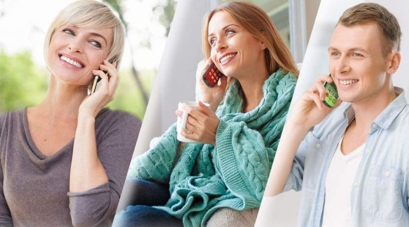 A pictorial representation of people engaged in a conference call with VTech CS6529-2 DECT 6.0 Phone Answering System with Caller ID/Call Waiting, another excellent unit among the Best Cordless Phone with headset jack models
