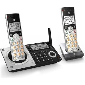 Bearing a digital answering system with a recording capacity of 22 minutes is the AT&T CL83207 DECT 6.0 Expandable Cordless Phone picture, one of the best at&t cordless phone models