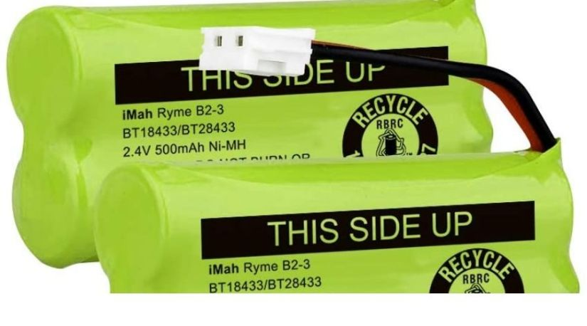 Do you need special batteries for your cordless phones? The image shows a special AAA rechargeable batteries that can be used on a cordless phone; the iMah BT18433/BT28433 2.4V 500mAh Ni-MH Cordless Phone Battery