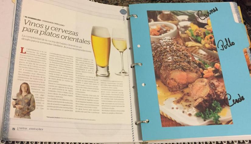 Cuaderno de recetas.