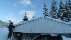 A roof just barely saved in Spruce Grove trailer park