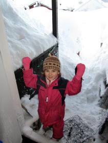 Signe's daughter is enjoying the snow!