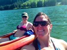 Emily and I kayaking