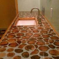 Cordwood Countertops and Flooring!