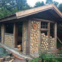 Cordwood Sauna in Sweden (Part 2)