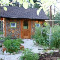 Cordwood Greenhouse in Montana