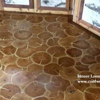"Cordwood Flooring ""Kicking it up a notch"""