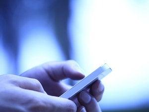 mobile smartphone hands user