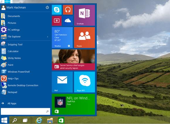 windows 10 start screen tight crop