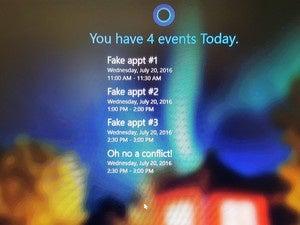 Windows 10 Anniversary Update calendar on lock screen