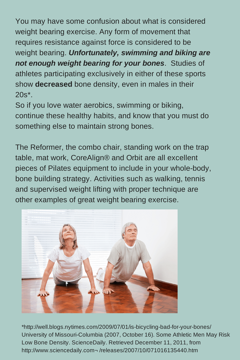 Pilates and Healthy Bones, good and bad exercise to build bones.