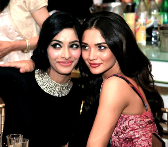 Arvina Purkayastha with Amy Jackson at Madame Tussauds..