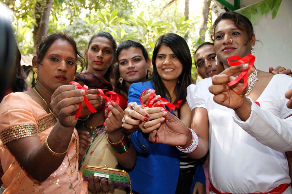 Dr Sunita Dube With Amrita And Others At World AIDS Day Event