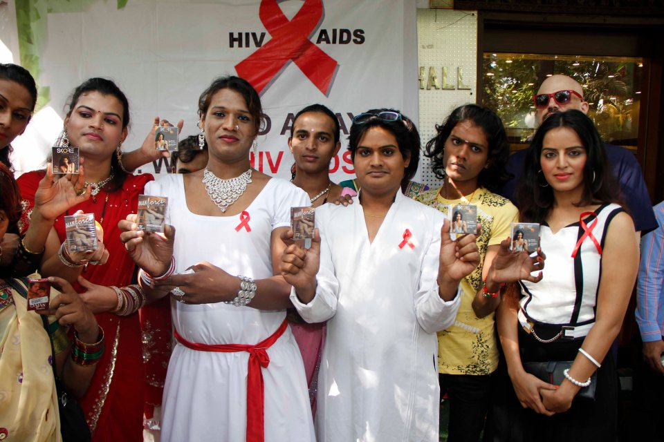 Meghna Patel With Enunch At World AIDS Day Event