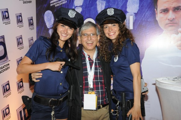 Sam Balsara at ID booth at Goafest 2015 (i)
