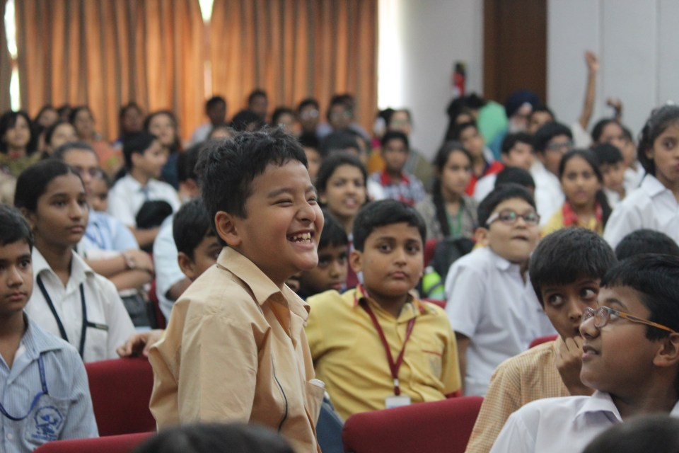 A young member of the audience after getting an audience question right_Credit Mohd Abbas_WWFIndia9