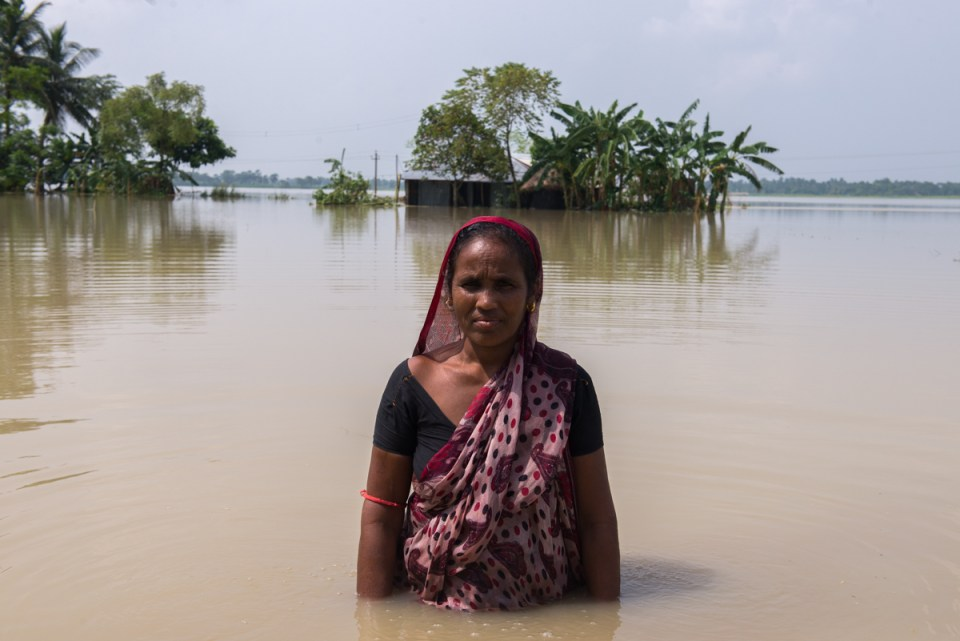 Photo 1 The state of the Haldipur Village in West Bengal after the floods