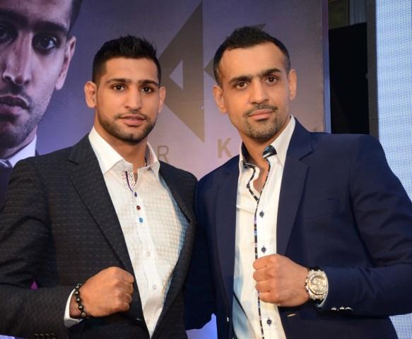 Amir Khan (World Pro Boxing Champion) and Bill Dosanjh (CEO & Founder Super Filght League) (2)