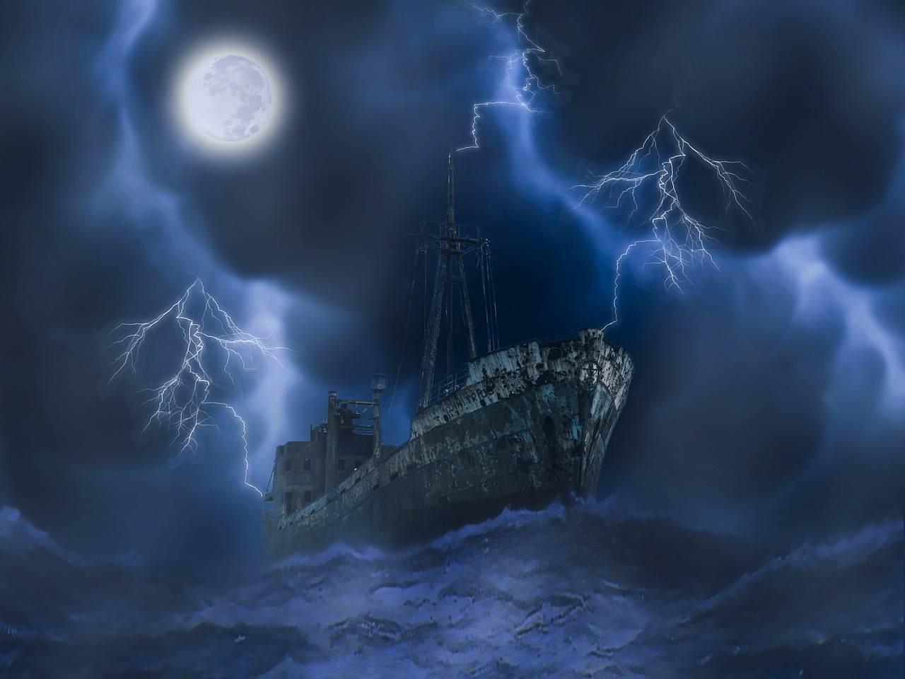 海にまつわる怖い話『船幽霊』|洒落怖・海の怪談