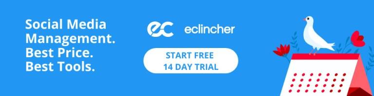 eclincher social media management tool banner