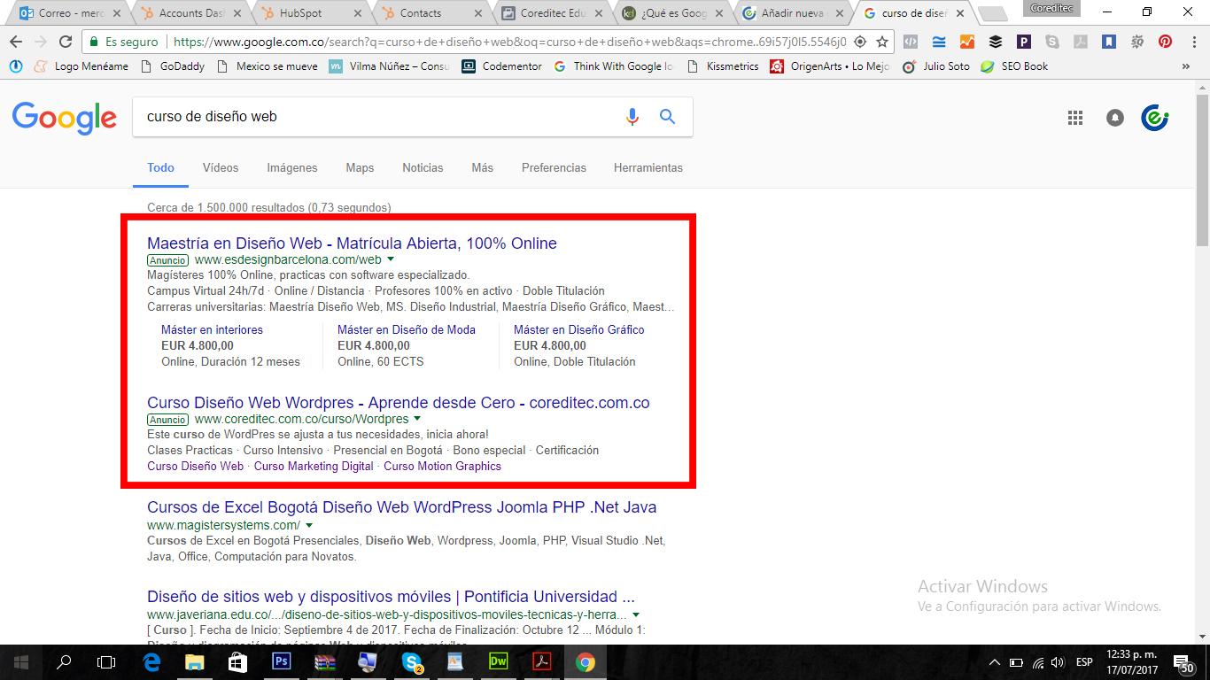 Curso Oficial Google Adwords ™ Gratis y Práctico | Coreditec ...