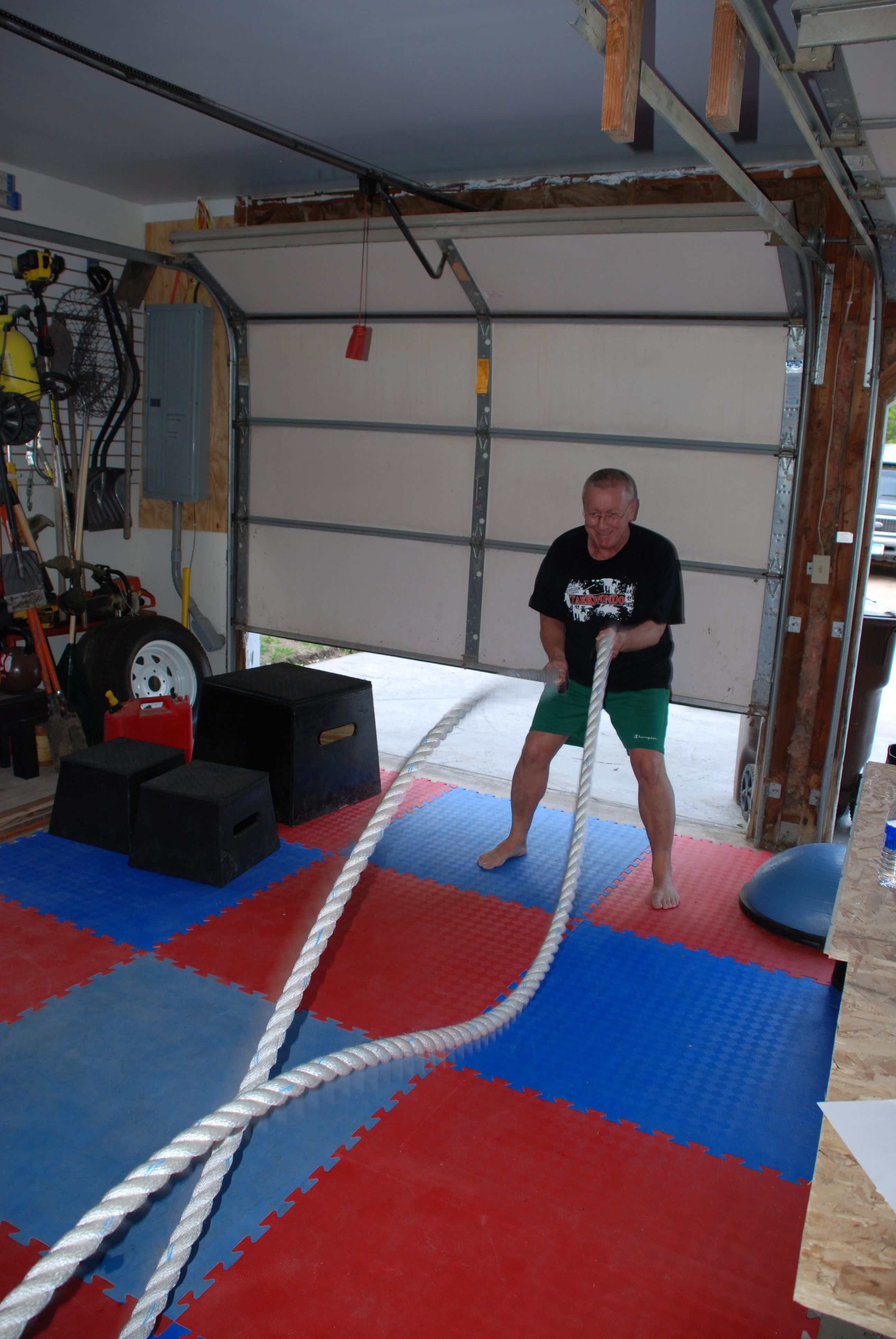 Mike on the ropes