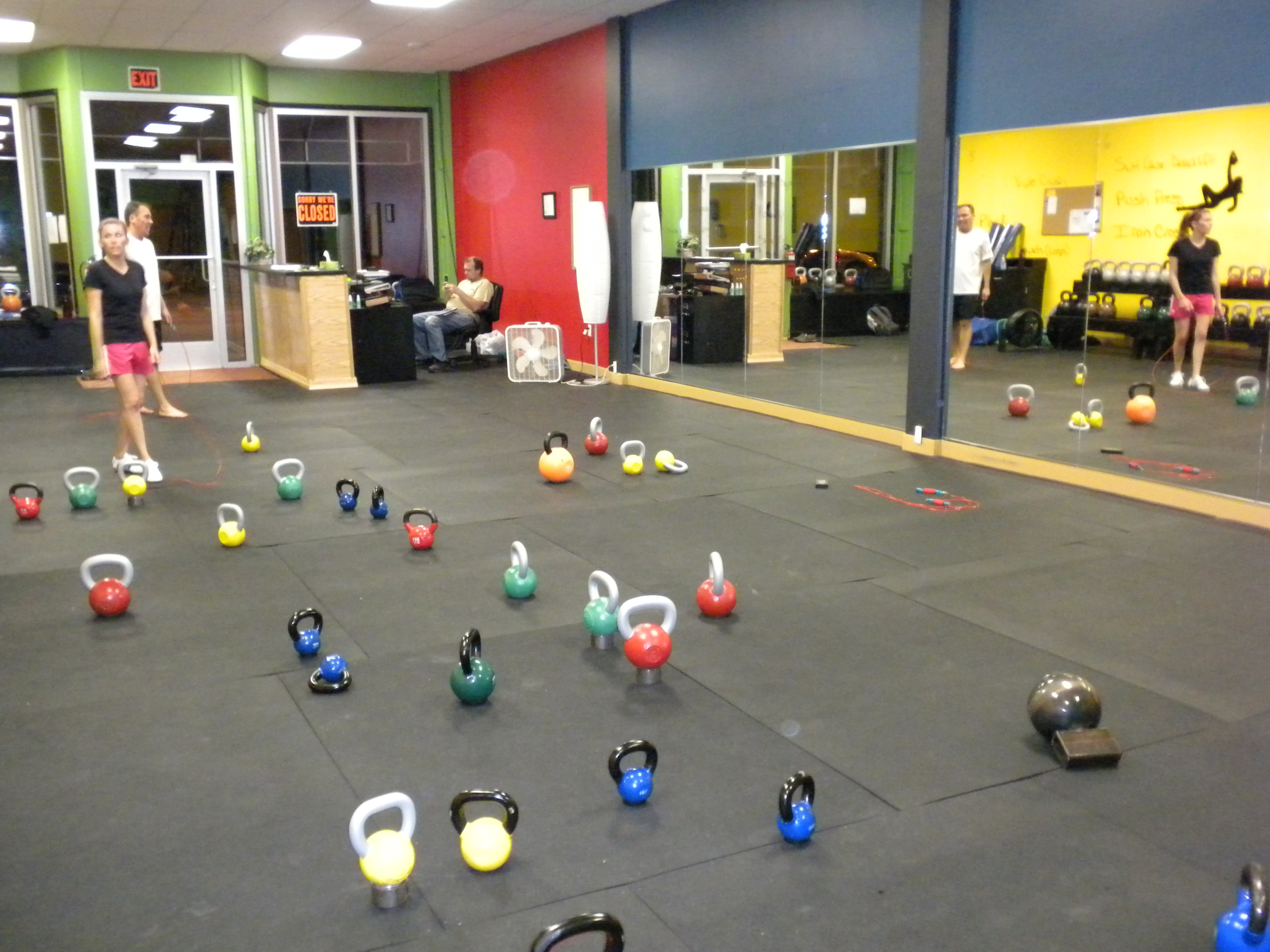 That's a lot of kettlebells!