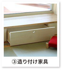 ③造り付け家具