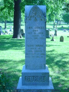 Susannah Clay McGee and James Pickens Corel Tombstone