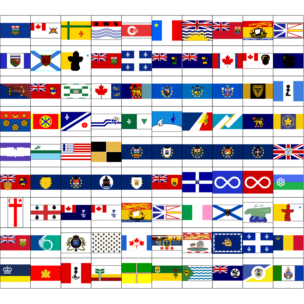 Canadian Flags Unleashed Volume 1