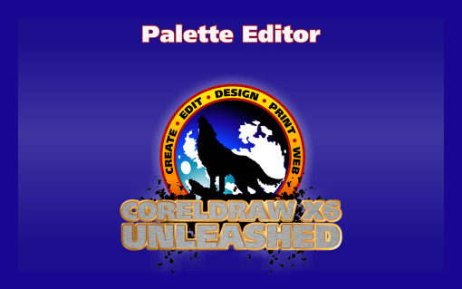 Using the Palette Editor to Create and Modify Palettes in CorelDRAW