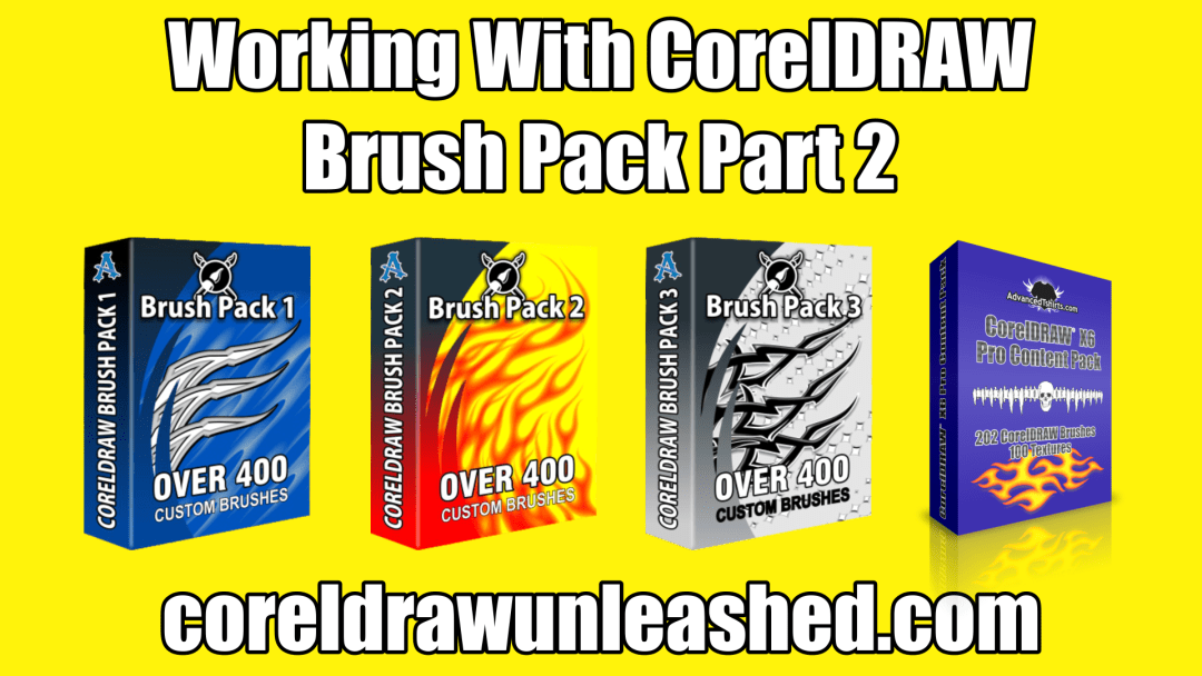 Working With CorelDRAW Brush Pack Part 2