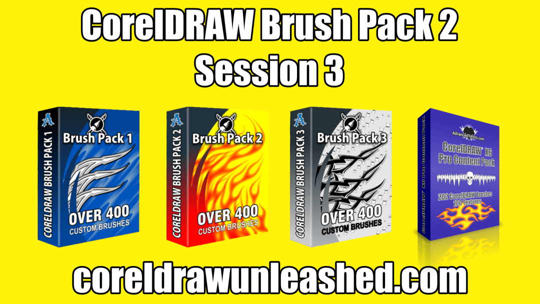 CorelDRAW Brush Pack 2 Session 3
