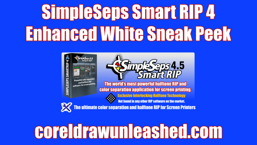 SimpleSeps Smart RIP 4 Enhanced White Sneak Peek
