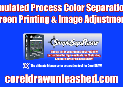 Simulated Process Color Separations for Screen Printing and Image Adjustments