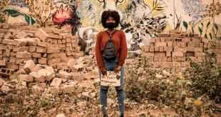 A Black Lives Matter protester in Senegal. JOHN WESSELS/AFP via Getty Images