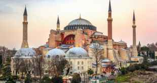 The Hagia Sophia has been converted into a mosque. Murat Can Kirmizigul/Shutterstock