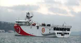 Turkey's Oruç Reis vessel has been carrying out seismic work in contested waters. EPA