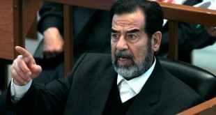 Saddam Hussein: on trial in 2006 in Baghdad. Nikola Solic/EPA