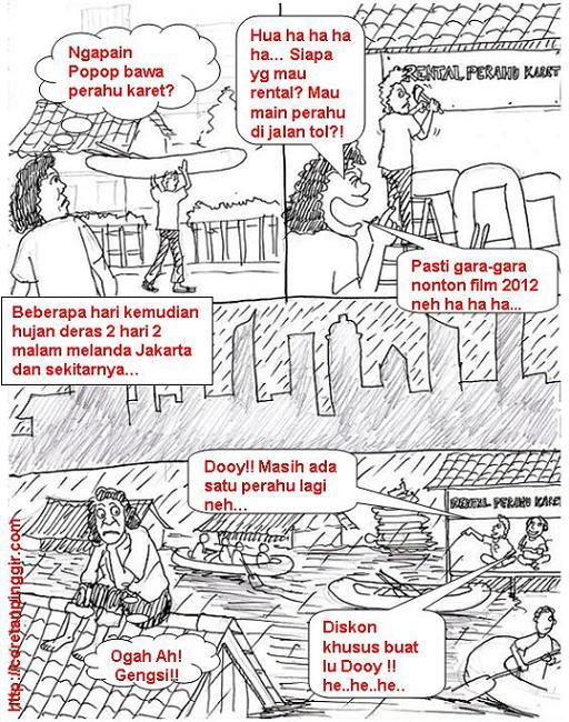 Kartun komik banjir jakarta
