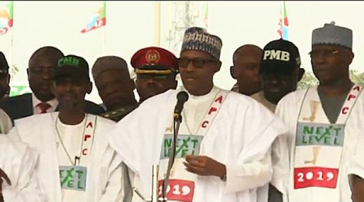 Image result for apc rally in abuja  Just In: 2019 APC Presidential Rally! PDP Berates Buhari's Mega Rally, Says Its All Over Buhari in Abuja e1550079474535