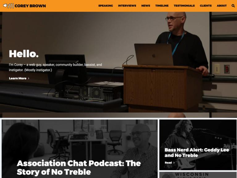 Corey Brown Site Homepage
