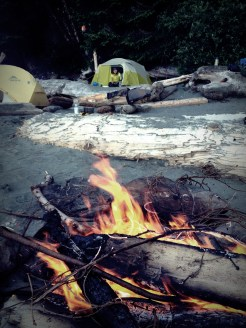Tenting at Thrasher Cove