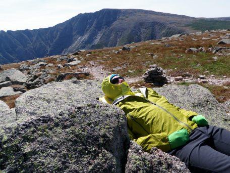 resting on Mount Katahdin