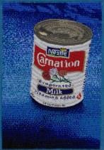 Wrangell Milk, 2009, Seed beads hand sewn on felt, 11 x 7.5 x 2 inches